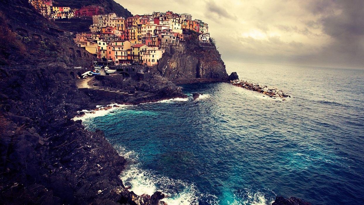towns villages sea wallpaper