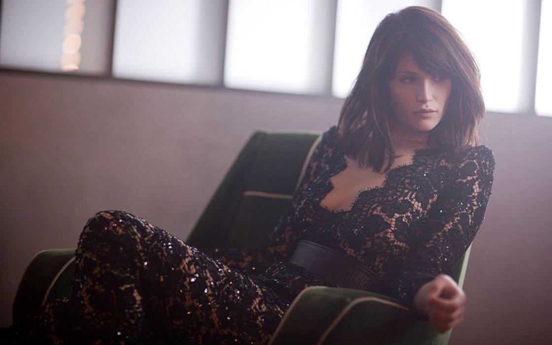 brunettes women dress Gemma Arterton wallpaper