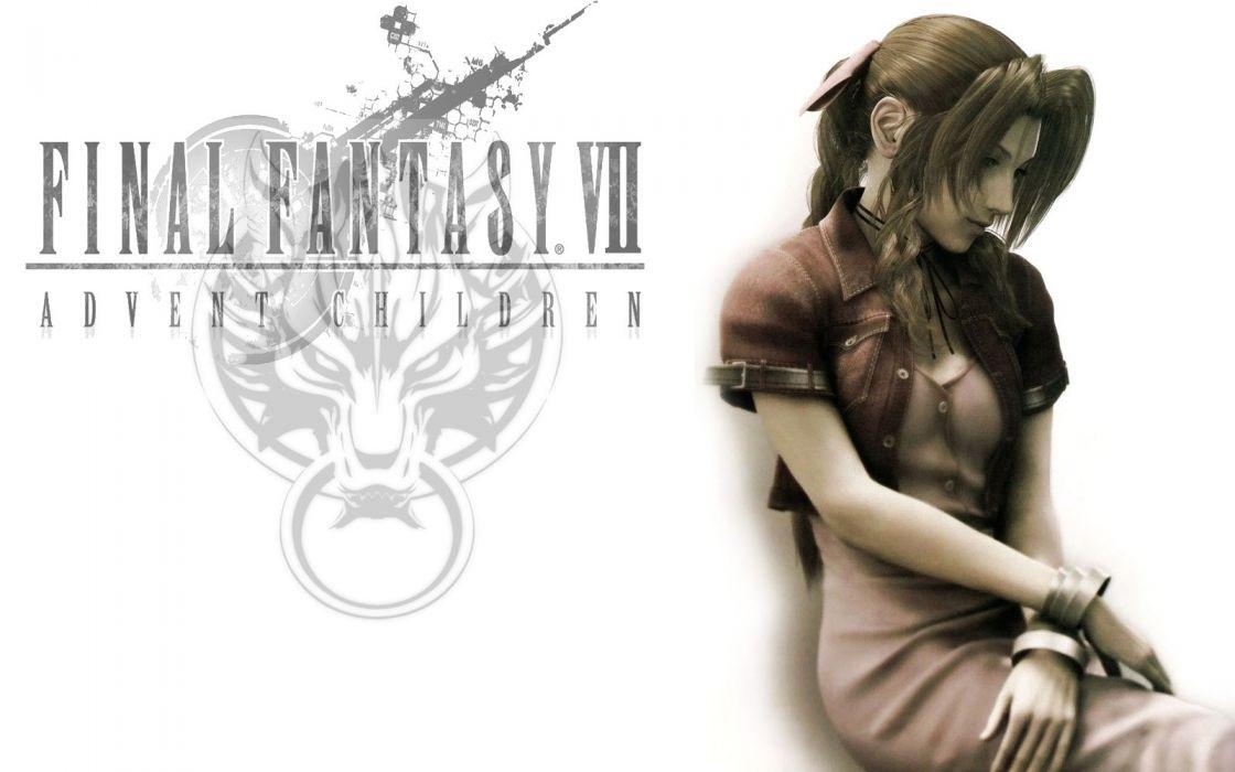 Final Fantasy VII Advent Children Aerith Gainsborough 3D renders wallpaper