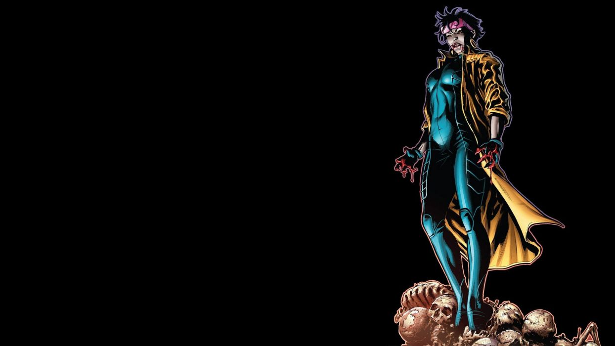 comics vampires Marvel Comics Jubilee black background wallpaper