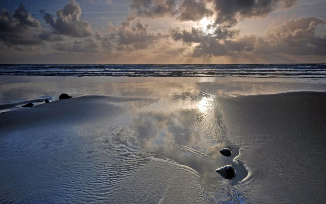 landscapes sand sea beaches wallpaper