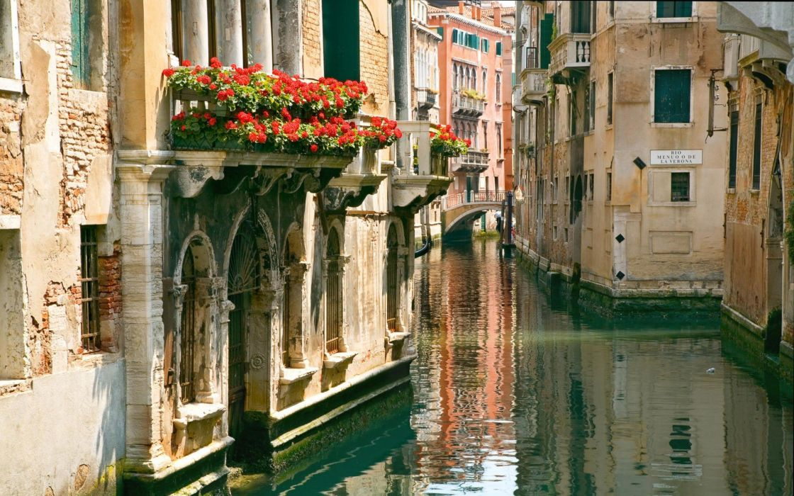 cityscapes Venice Italy canal wallpaper