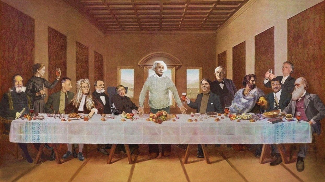 The last supper albert einstein stephen hawking wallpaper - Last supper 4k ...