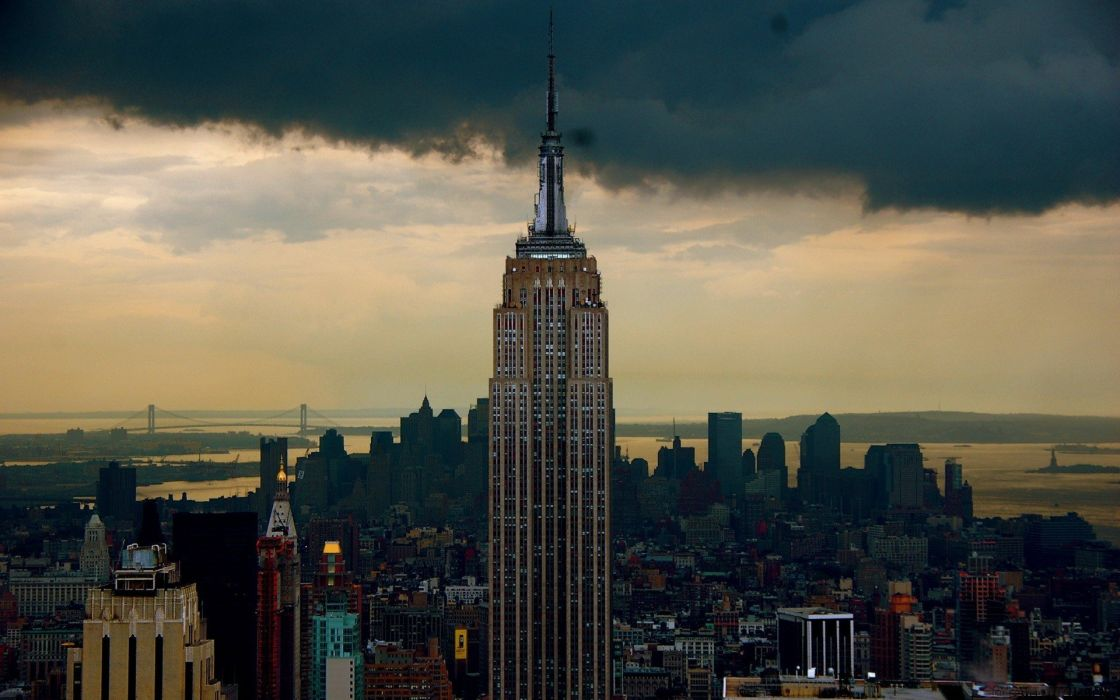 architecture buildings New York City Empire State Building wallpaper