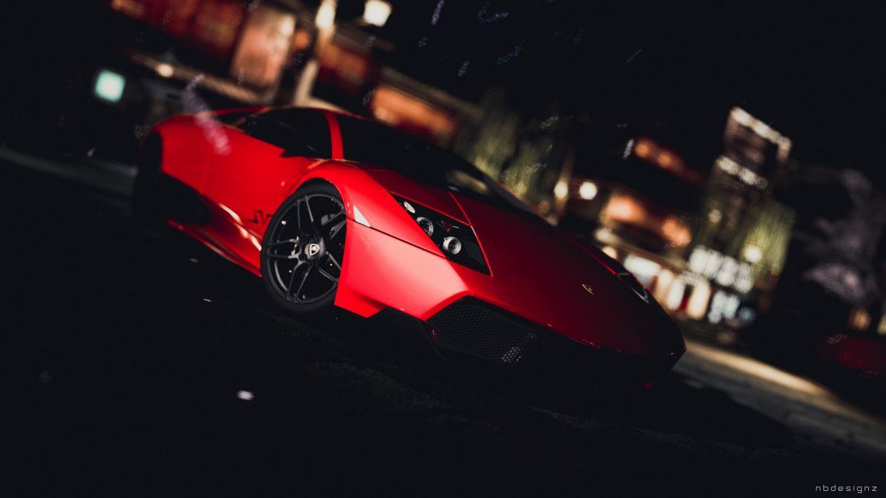 video games cars Lamborghini races wallpaper