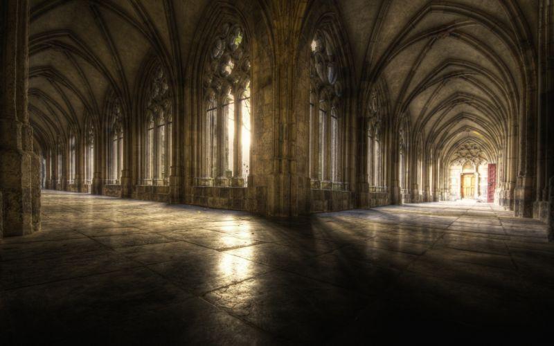 architecture hall Gothic cathedrals Complex Magazine wallpaper