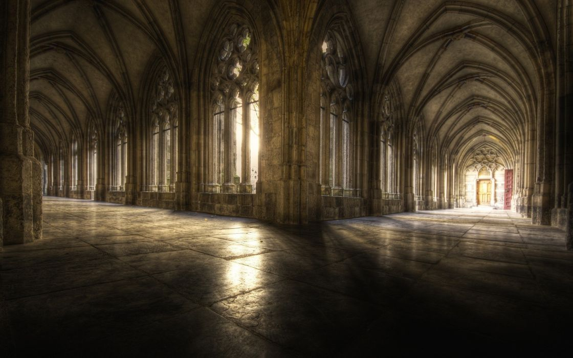 architecture hall Gothic cathedrals Complex Magazine wallpaper