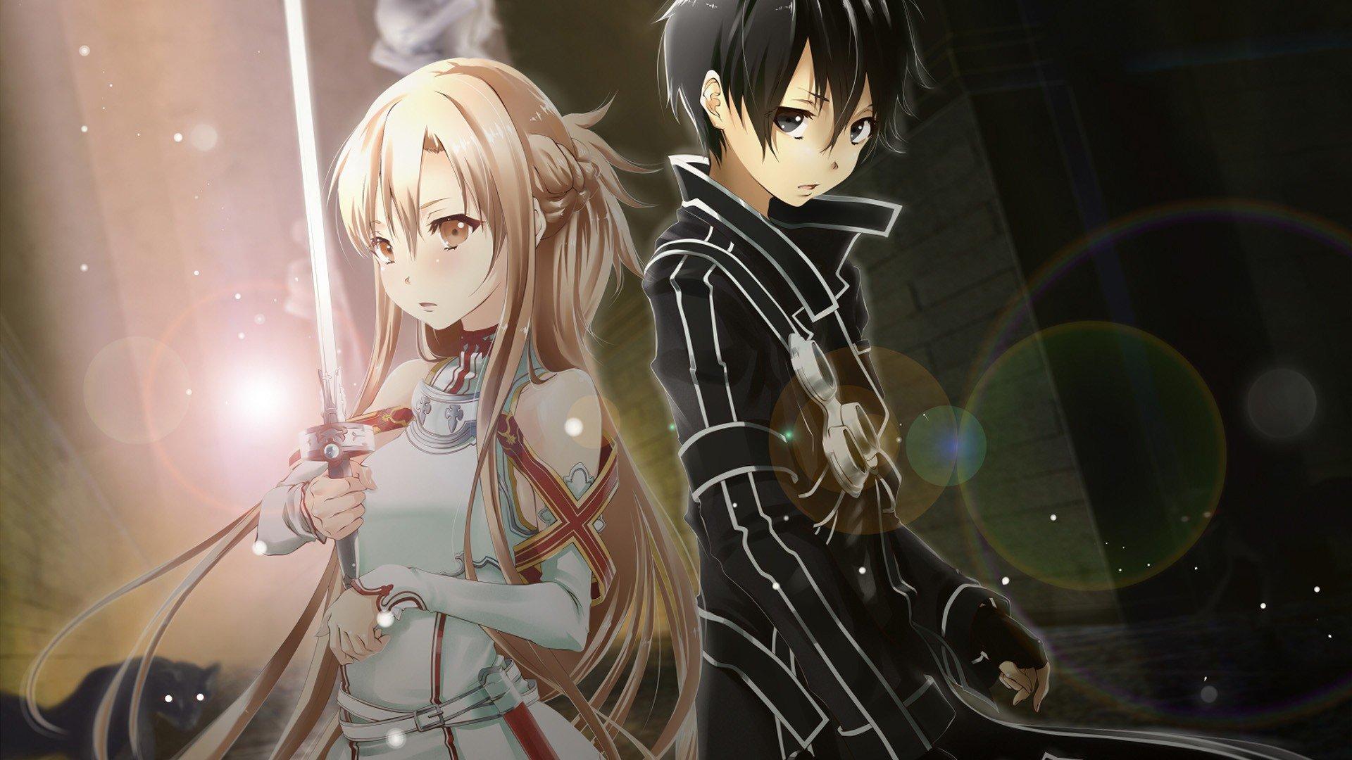 Sword Art Online Yuuki Asuna Kirigaya Kazuto Kirito Wallpaper