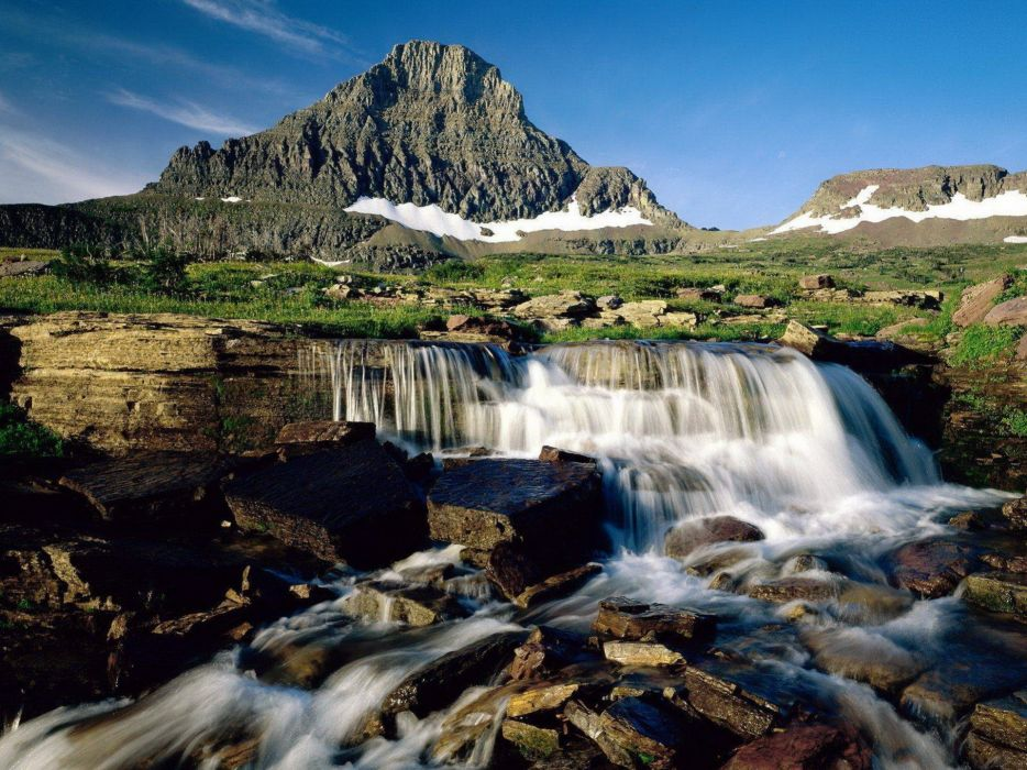 landscapes nature waterfalls wallpaper