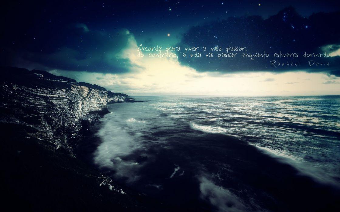 Sun minimalistic rocks Brazil sleeping photo manipulation message Inspiration sentimental sea wallpaper