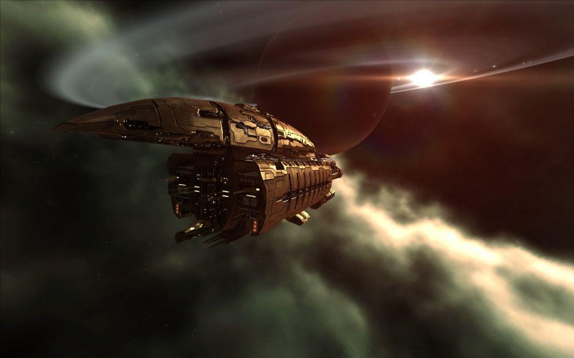 EVE Online spaceships vehicles Abaddon wallpaper