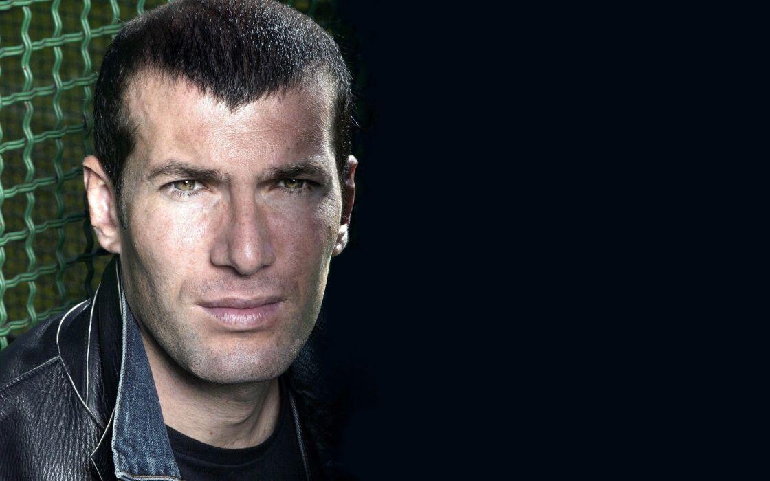soccer men Zinedine Zidane faces wallpaper
