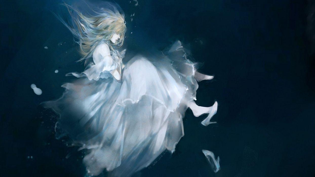 dress artwork underwater wallpaper