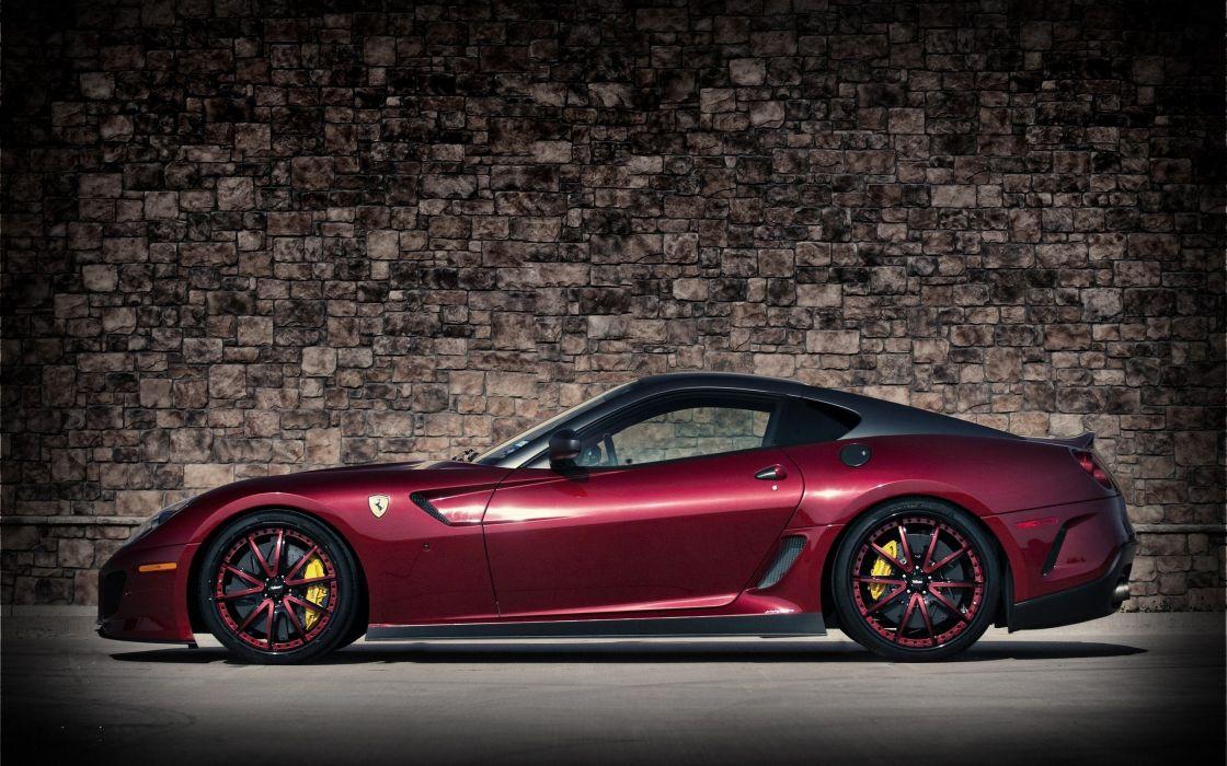 cars supercars Ferrari 599 GTO wallpaper