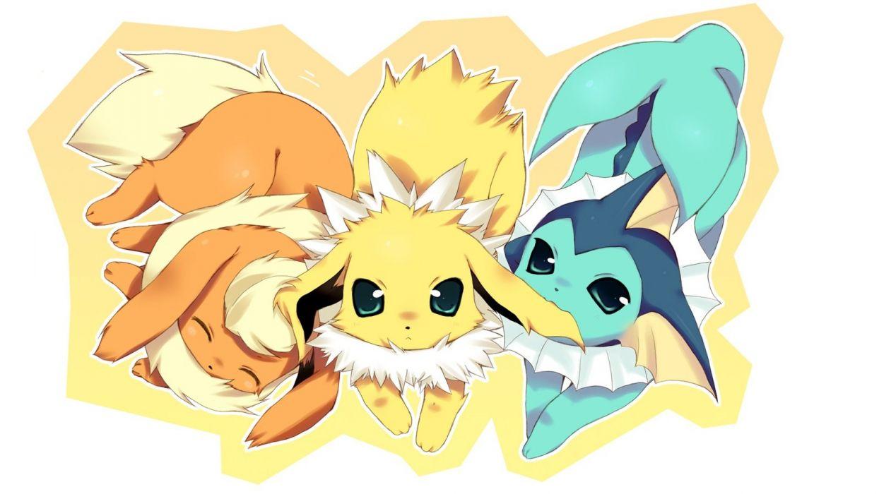 Pokemon fire Flareon Eevee Vaporeon