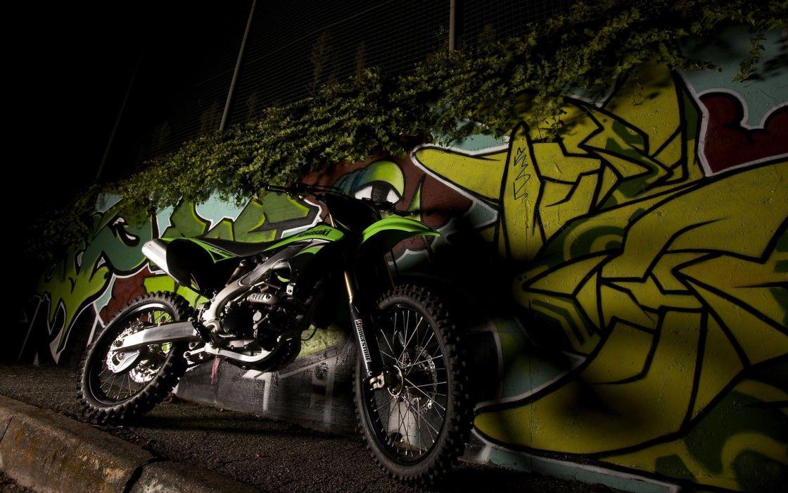 cross Kawasaki vehicles motorbikes enduro wallpaper
