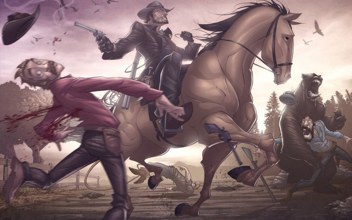RED DEAD REDEMPTION western action adventure (20) wallpaper