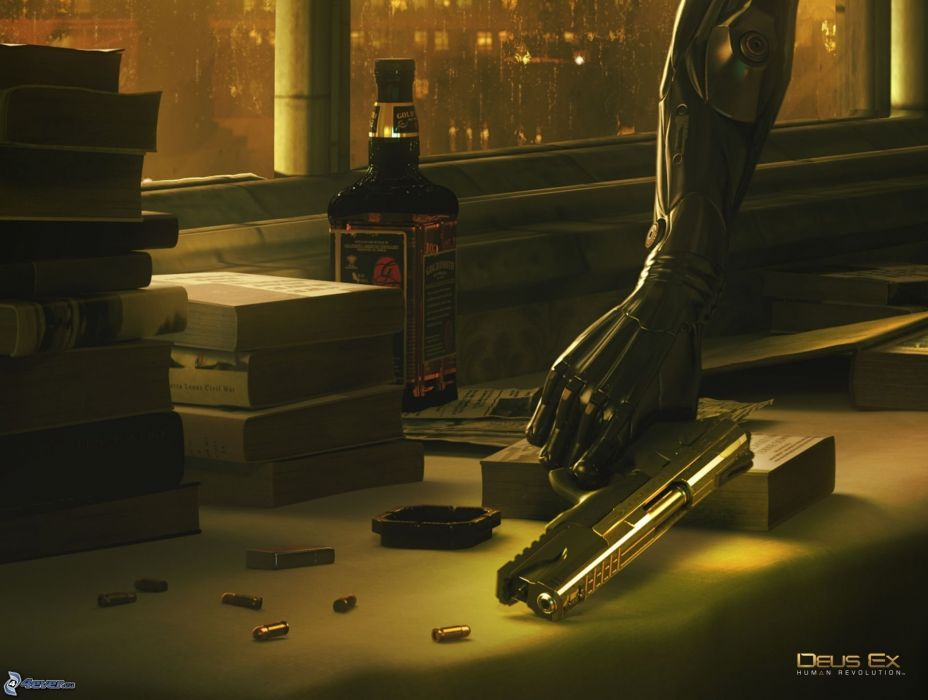 DEUS EX Human Revolution cyberpunk action role playing sci-fi futuristic (3) wallpaper