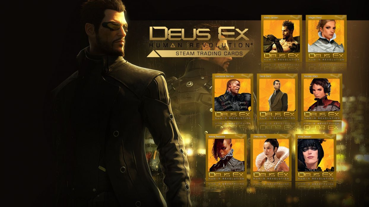 DEUS EX Human Revolution cyberpunk action role playing sci-fi futuristic (4) wallpaper