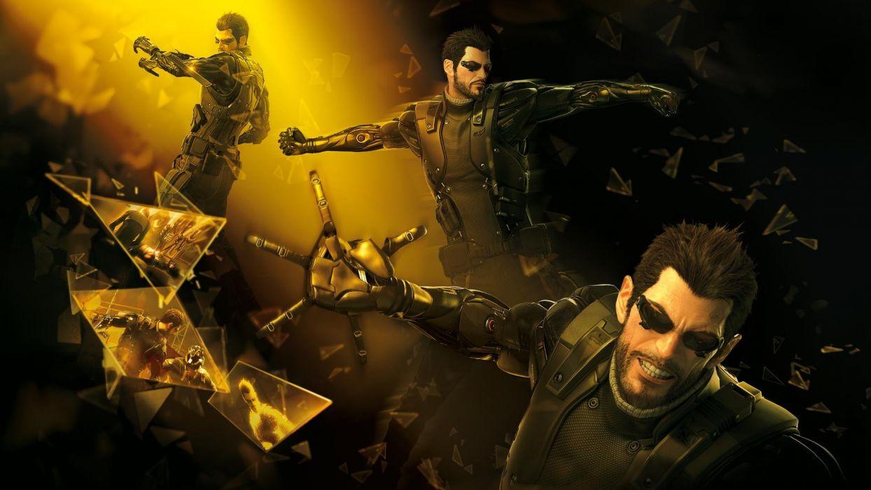 DEUS EX Human Revolution cyberpunk action role playing sci-fi futuristic (10) wallpaper