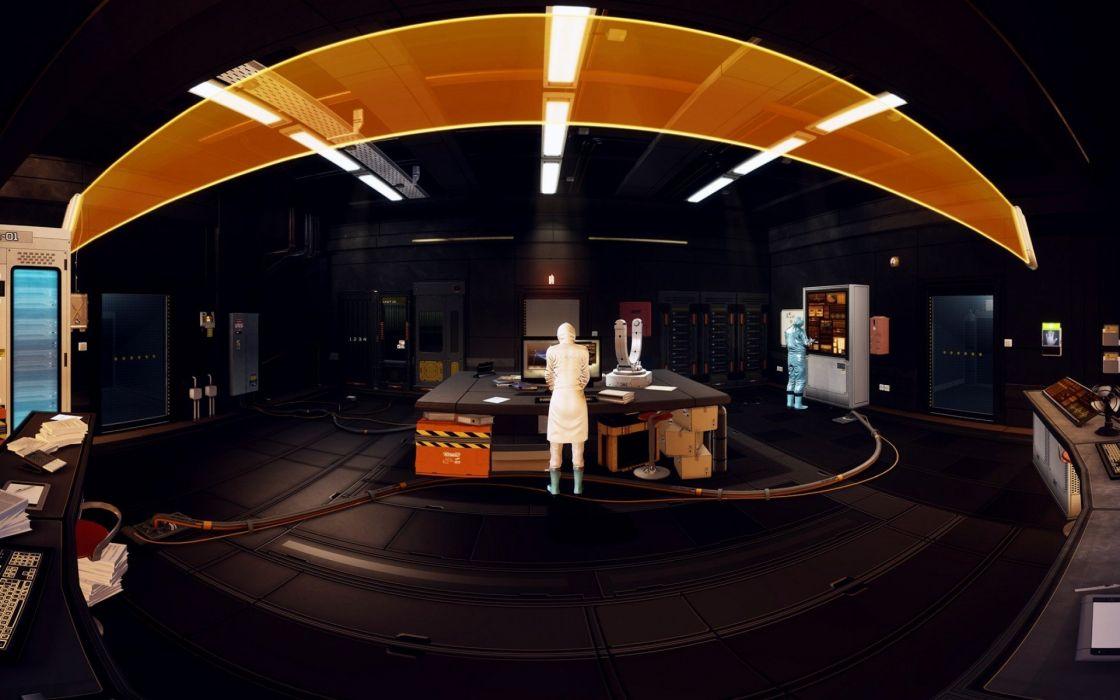 DEUS EX Human Revolution cyberpunk action role playing sci-fi futuristic (14) wallpaper