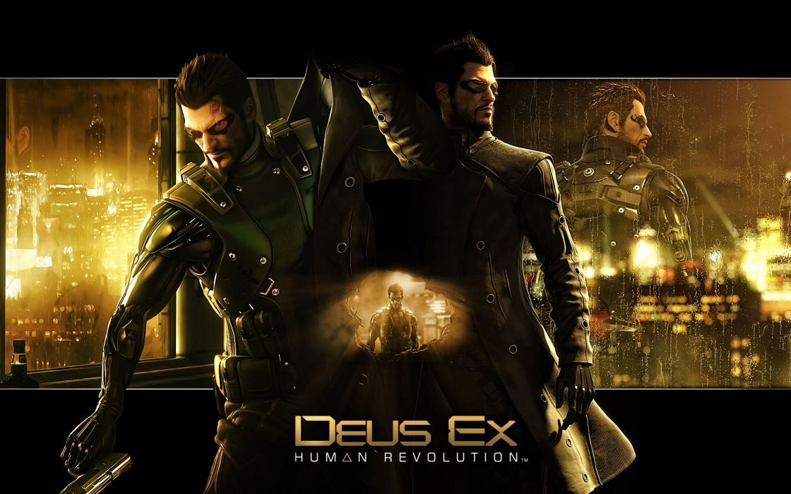 DEUS EX Human Revolution cyberpunk action role playing sci-fi futuristic (16) wallpaper