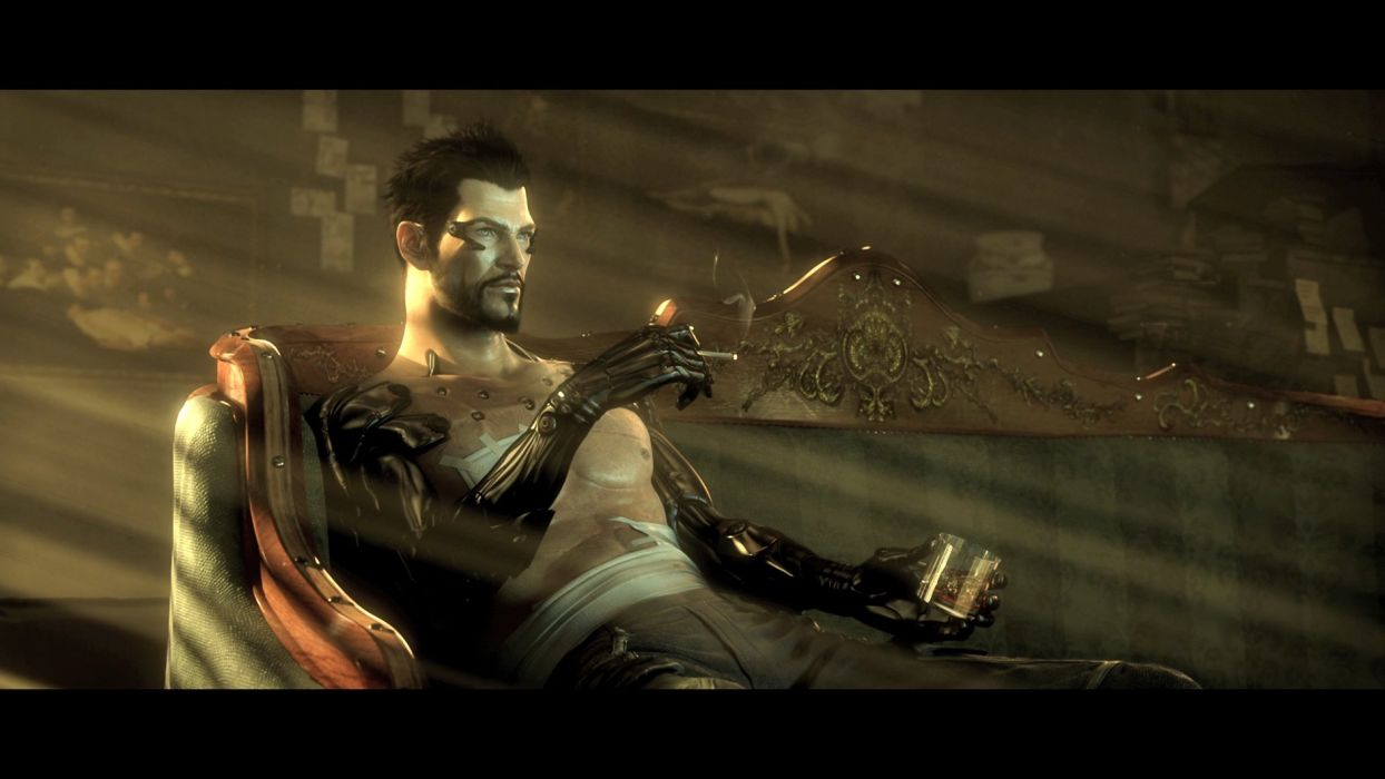 DEUS EX Human Revolution cyberpunk action role playing sci-fi futuristic (21) wallpaper
