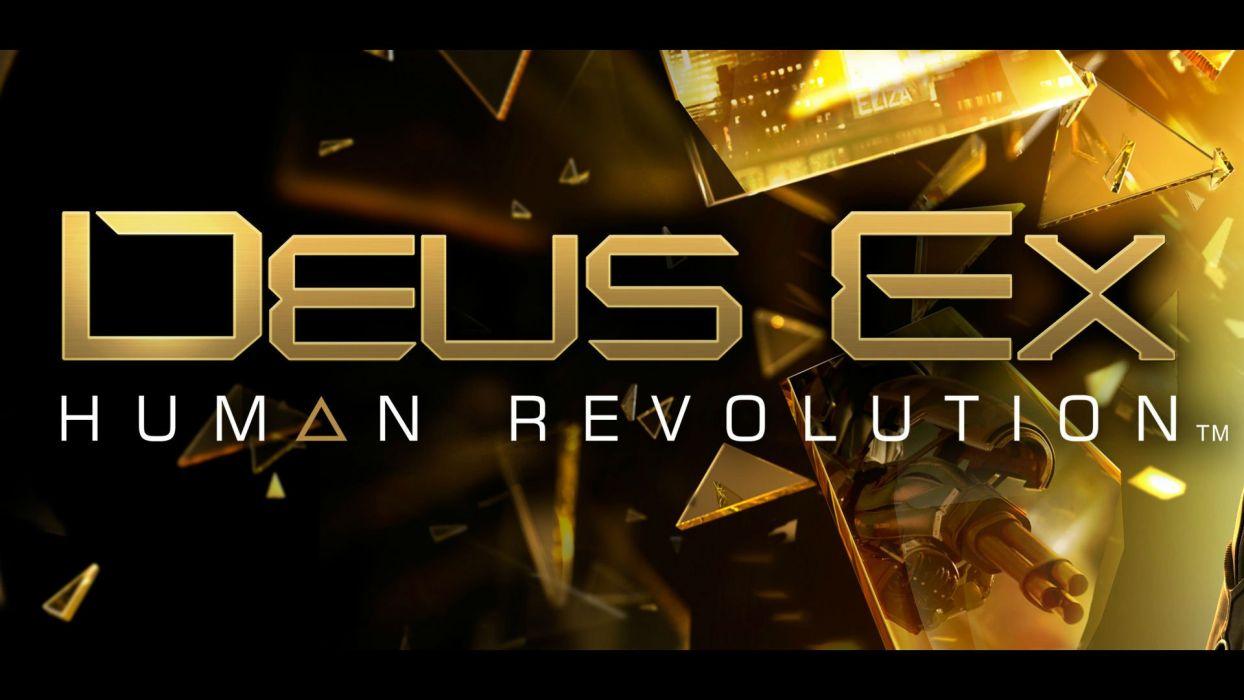 DEUS EX Human Revolution cyberpunk action role playing sci-fi futuristic (25) wallpaper