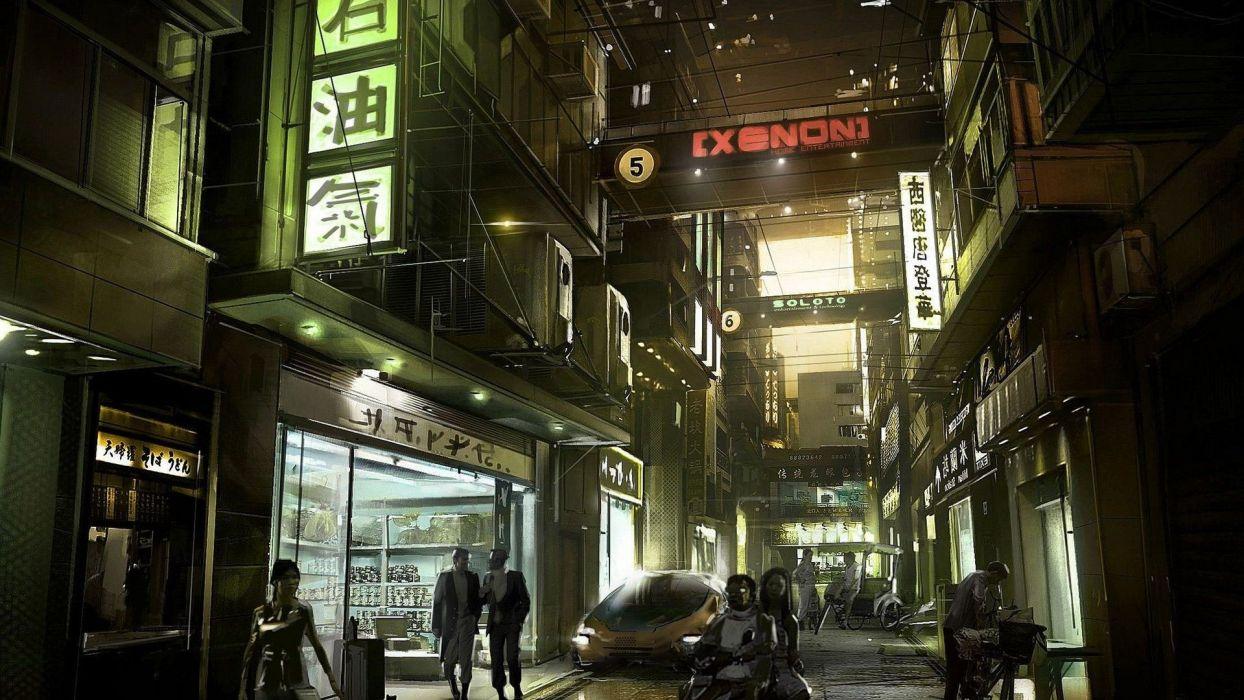 DEUS EX Human Revolution cyberpunk action role playing sci-fi futuristic (31) wallpaper