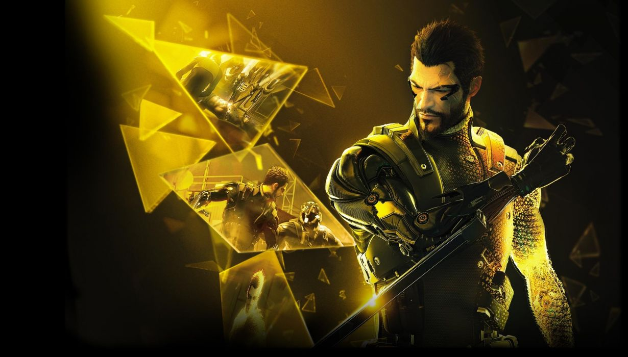 DEUS EX Human Revolution cyberpunk action role playing sci-fi futuristic (35) wallpaper
