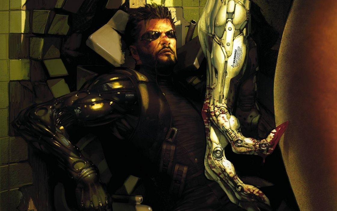 DEUS EX Human Revolution cyberpunk action role playing sci-fi futuristic (37) wallpaper