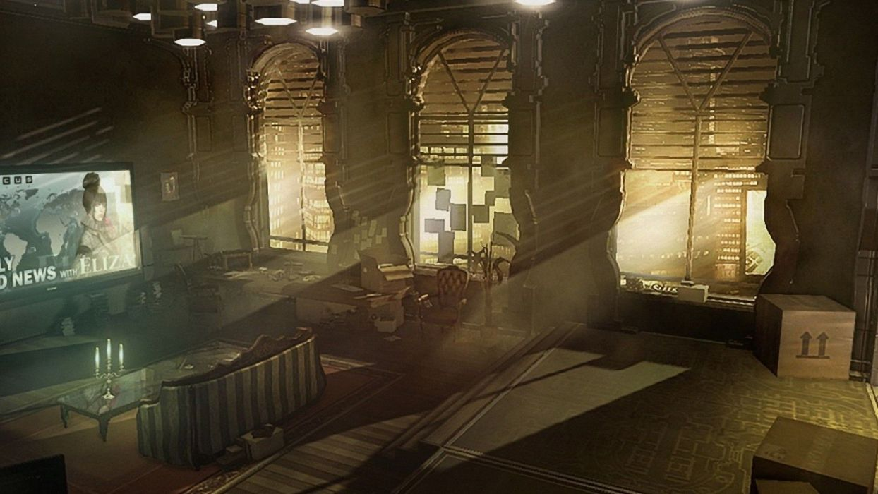 DEUS EX Human Revolution cyberpunk action role playing sci-fi futuristic (38) wallpaper