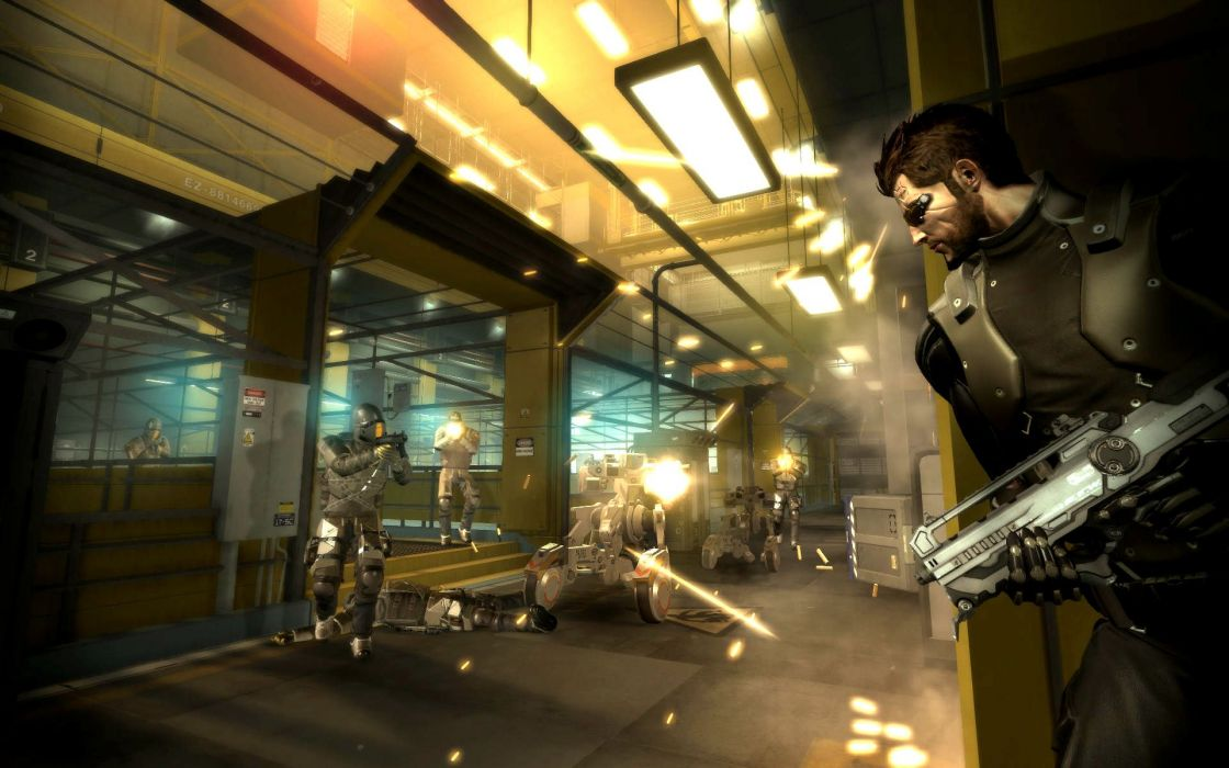 DEUS EX Human Revolution cyberpunk action role playing sci-fi futuristic (42) wallpaper