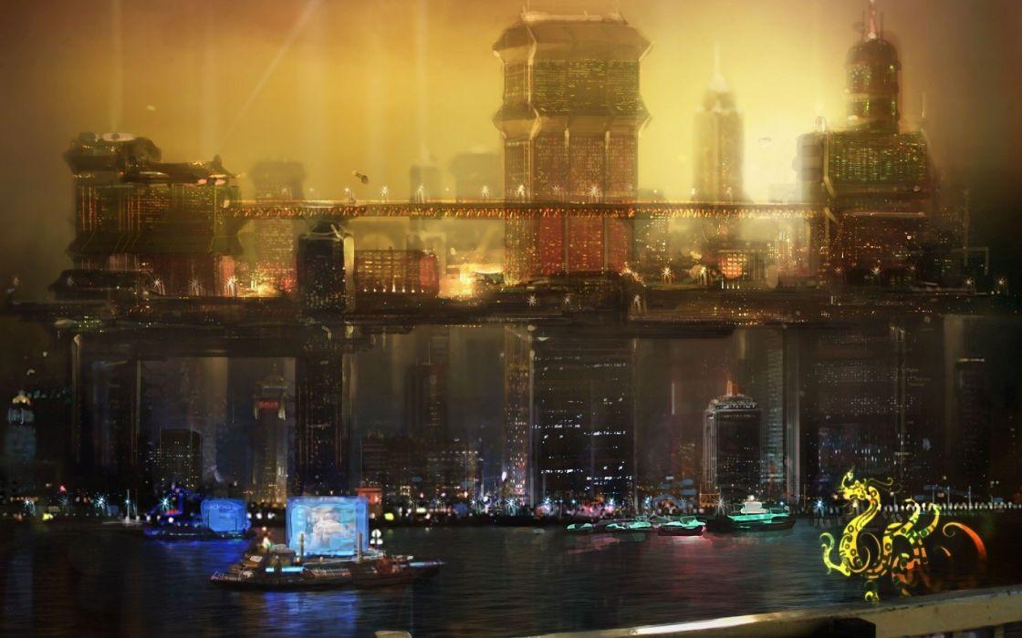 DEUS EX Human Revolution cyberpunk action role playing sci-fi futuristic (43) wallpaper