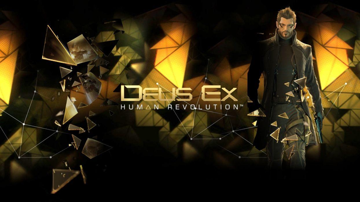 DEUS EX Human Revolution cyberpunk action role playing sci-fi futuristic (62) wallpaper