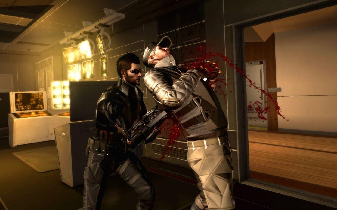 DEUS EX Human Revolution cyberpunk action role playing sci-fi futuristic (70) wallpaper