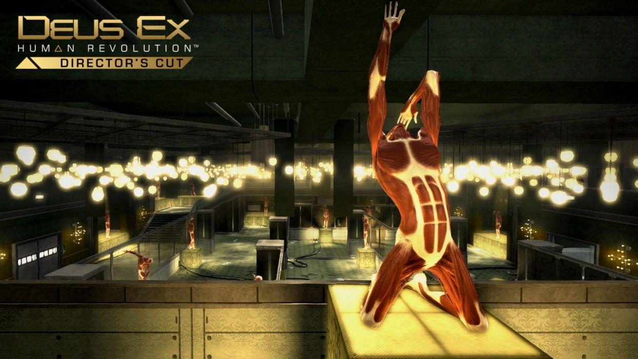 DEUS EX Human Revolution cyberpunk action role playing sci-fi futuristic (77) wallpaper