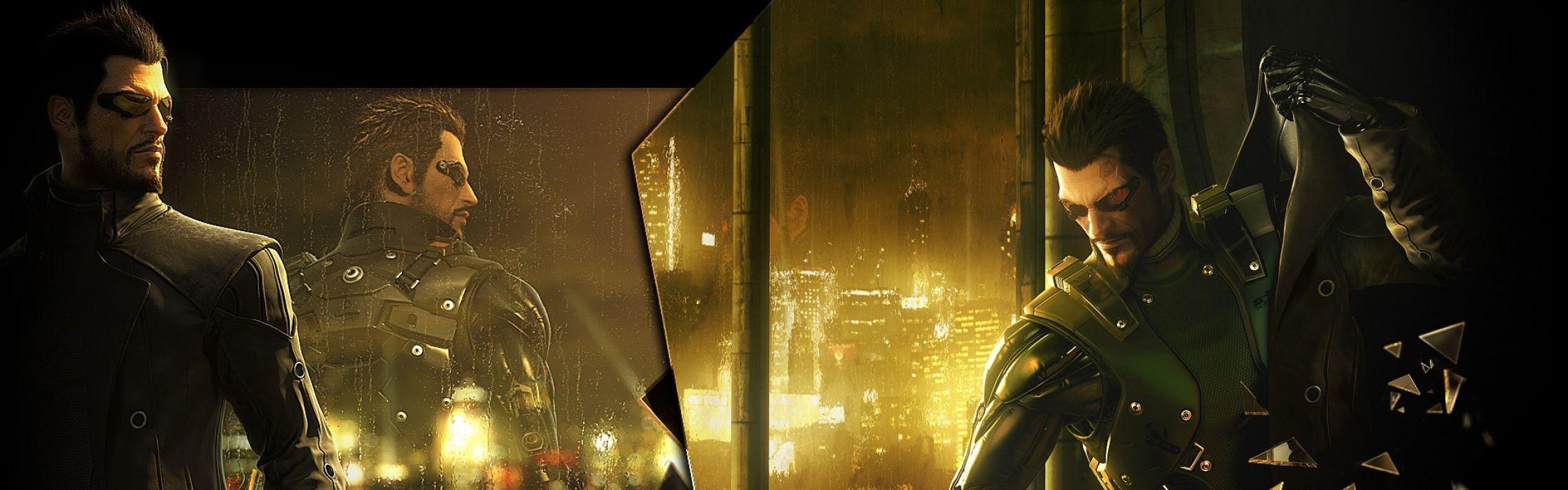 DEUS EX Human Revolution cyberpunk action role playing sci-fi futuristic (82) wallpaper