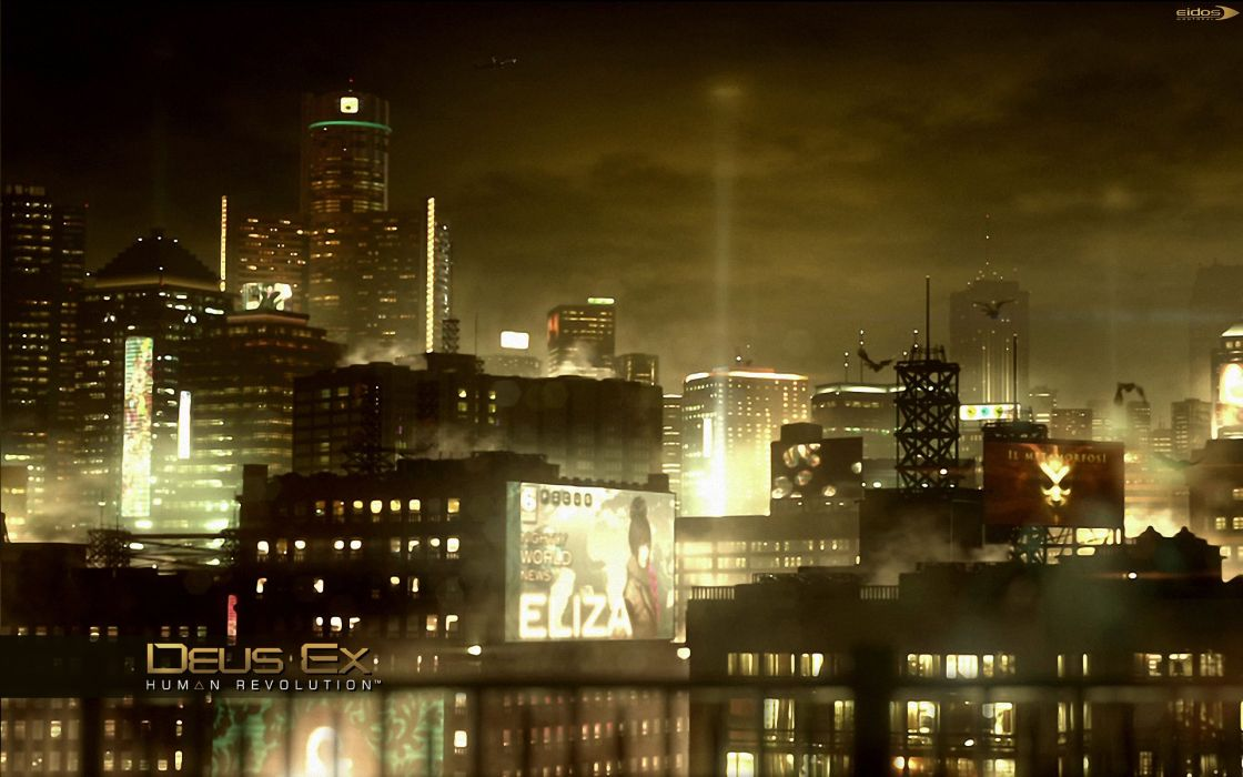 DEUS EX Human Revolution cyberpunk action role playing sci-fi futuristic (88) wallpaper