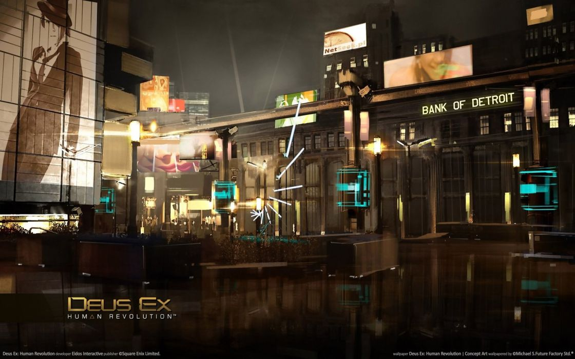 DEUS EX Human Revolution cyberpunk action role playing sci-fi futuristic (89) wallpaper