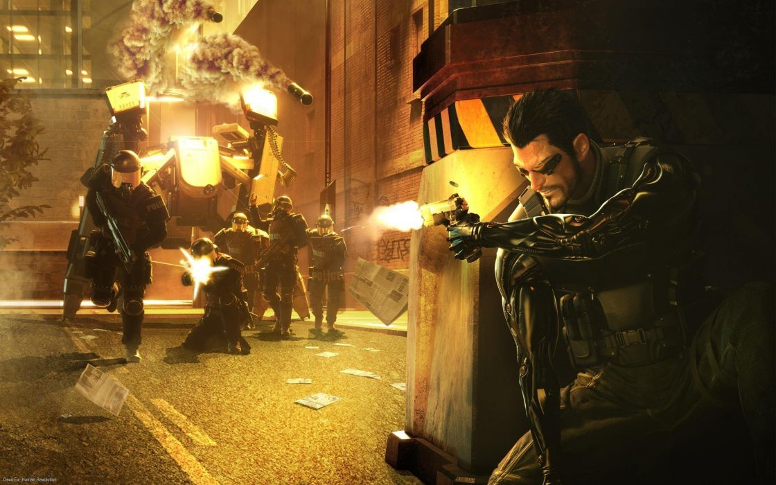 DEUS EX Human Revolution cyberpunk action role playing sci-fi futuristic (91) wallpaper