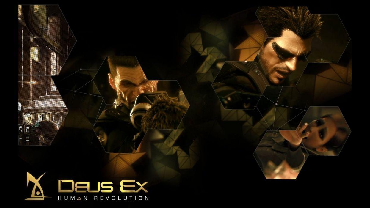 DEUS EX Human Revolution cyberpunk action role playing sci-fi futuristic (92) wallpaper