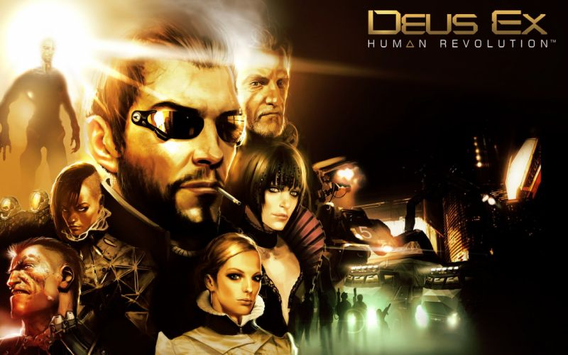 DEUS EX Human Revolution cyberpunk action role playing sci-fi futuristic (95) wallpaper