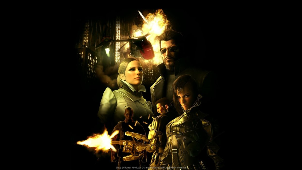 DEUS EX Human Revolution cyberpunk action role playing sci-fi futuristic (96) wallpaper