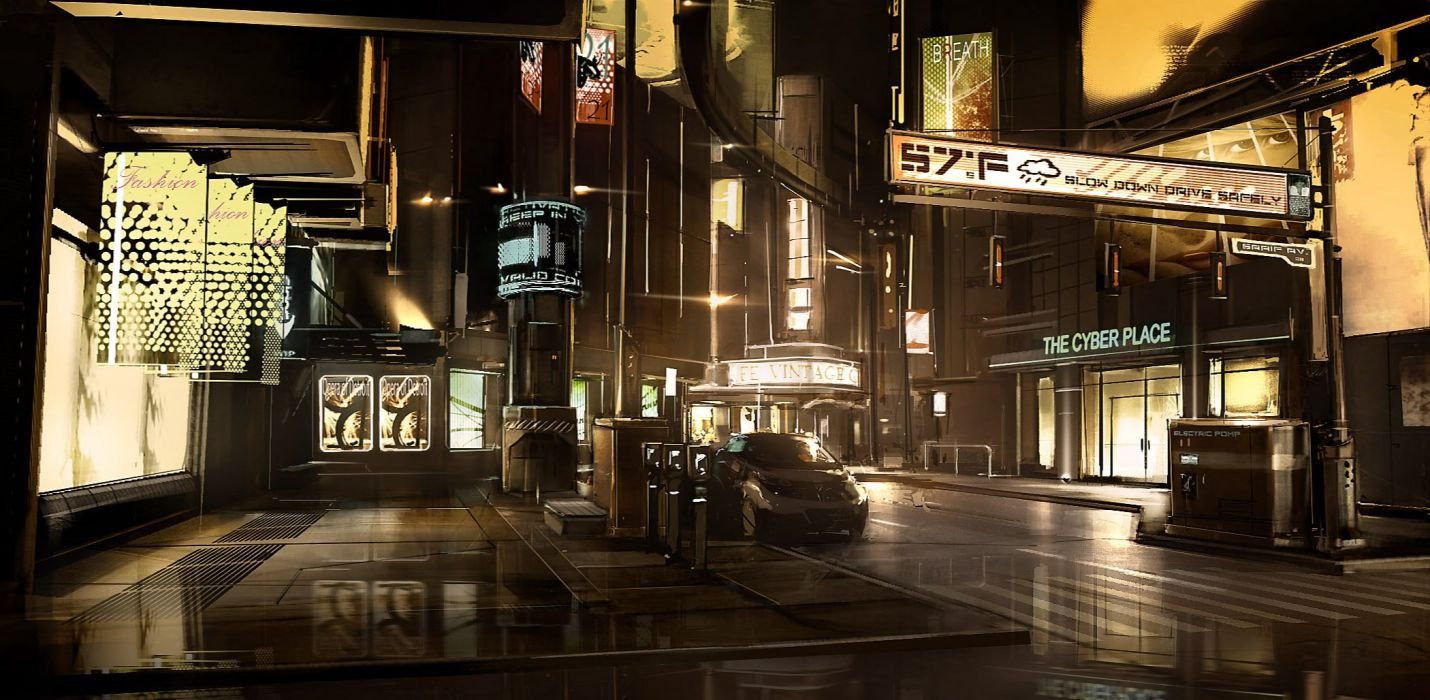 DEUS EX Human Revolution cyberpunk action role playing sci-fi futuristic (98) wallpaper
