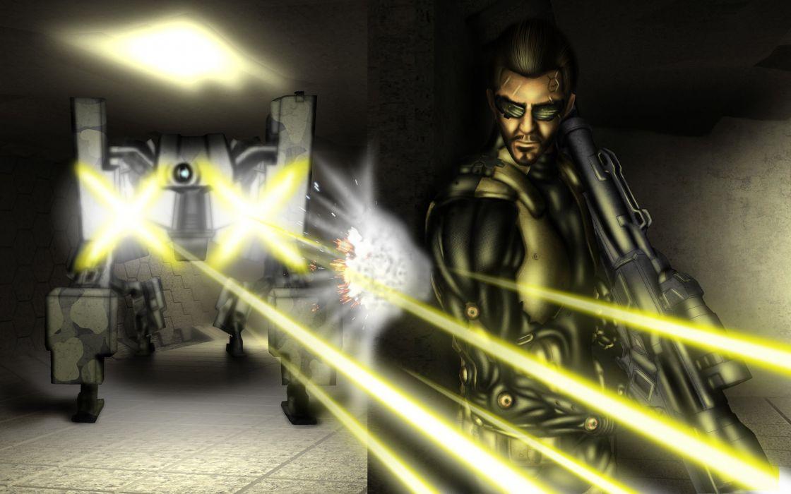 DEUS EX Human Revolution cyberpunk action role playing sci-fi futuristic (99) wallpaper