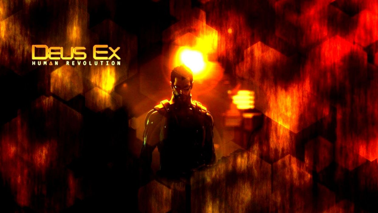 DEUS EX Human Revolution cyberpunk action role playing sci-fi futuristic (100) wallpaper