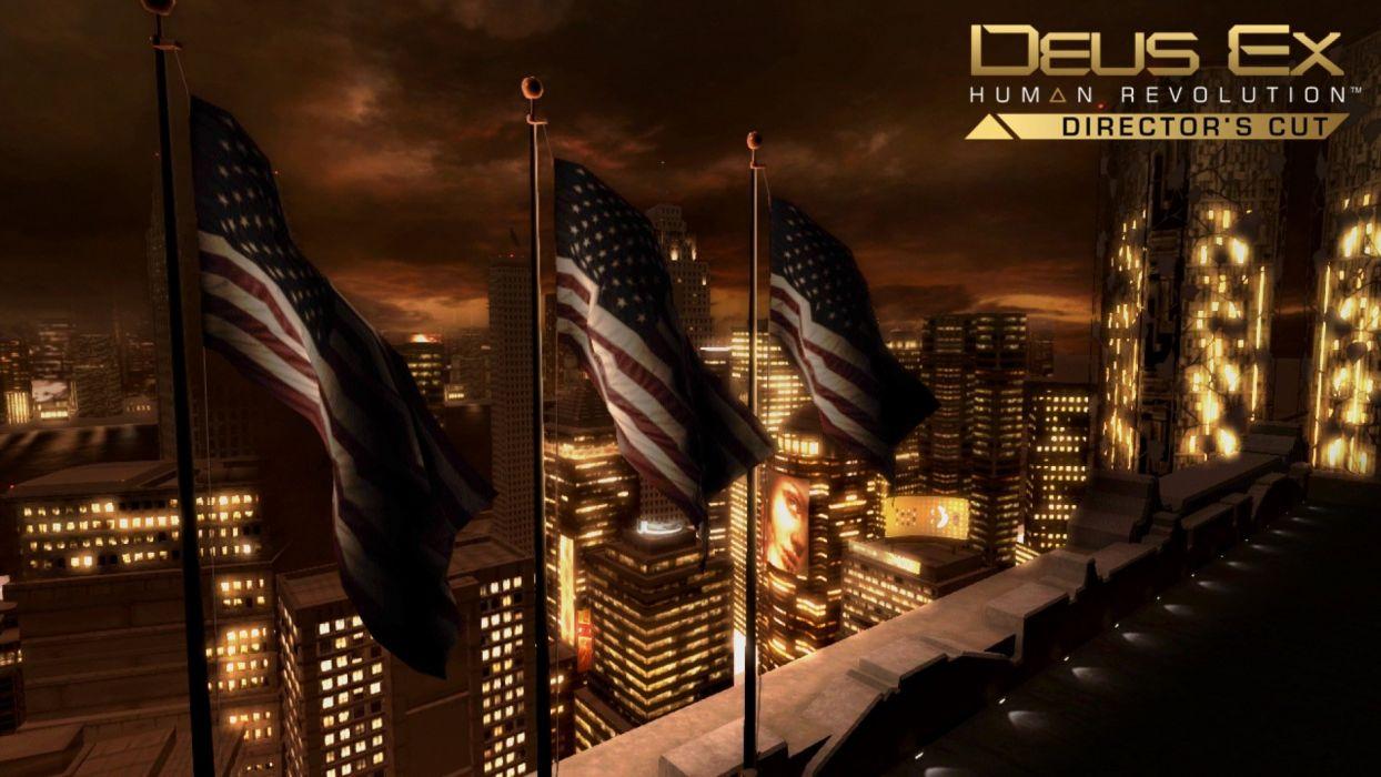 DEUS EX Human Revolution cyberpunk action role playing sci-fi futuristic (103) wallpaper