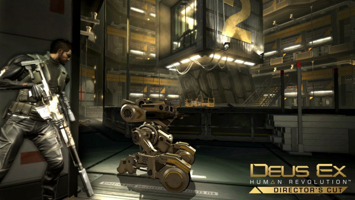 DEUS EX Human Revolution cyberpunk action role playing sci-fi futuristic (104) wallpaper