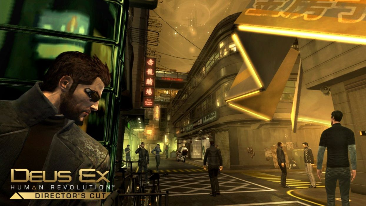 DEUS EX Human Revolution cyberpunk action role playing sci-fi futuristic (108) wallpaper